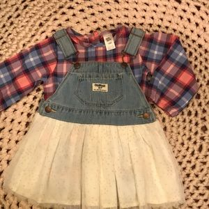 Girly Oshkosh jean overall dress